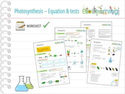 Photosynthesis equation and tests worksheet ks3ks4 by photosynthesis equation and tests worksheet ks3ks4 ccuart Images