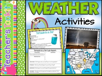 Weather Unit | Weather Activities | Experiments