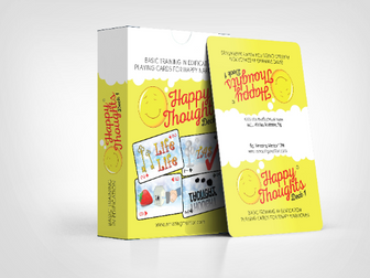 Happy Thoughts Playing cards & PDF Work book & manual