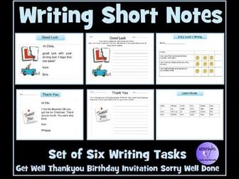 Functional Skills Writing Short Notes