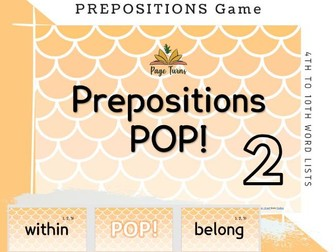 Sight Words PPT Game PREPOSITIONS 4th to 10th