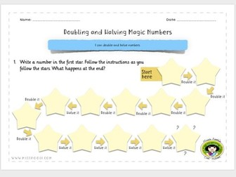 Doubling and Halving Magic Number Quiz