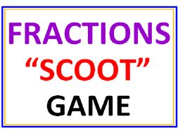 Fractions SCOOT Game (all inclusive)
