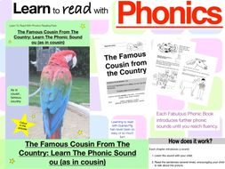 The Famous Cousin From The Country: Learn The Phonic Sound ou ( Learn To Read With Phonics Pack)