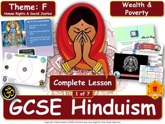 Wealth & Poverty - Comparing Hindu & Christian Views (GCSE RS - Hinduism - Social Justice) L1/7