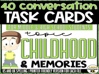Conversation Starter Cards | Childhood | Social Skills for Middle&High