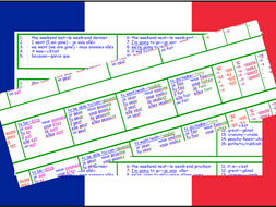 Verbs/Tenses/Time phrases in  French:  Vocabulaire utile