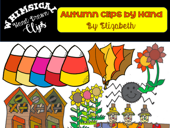 FREEBIE Whimsical Hand Draw Clip Art for Autumn Subjects:Clip Art