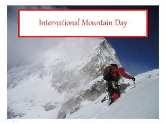 International Mountain Day, Mountain Sports, Mountain Writing Prompt and 31 Teaching Activities