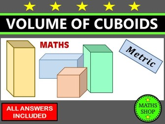 Volume of cuboids GCSE Revision