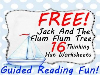 FREE Jack and the FlumFlum Tree Workbook - 16 Thinking Hat Reading Worksheets Makes Learning Fun!