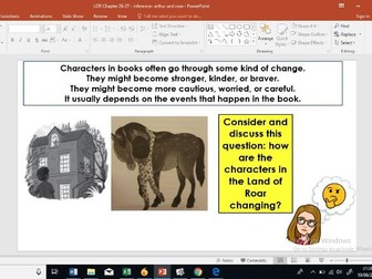 Year 5/6: Whole Class Reading - Land of Roar 26-27 - inference/explanation
