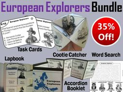 European Explorers Task Cards and Activities Bundle