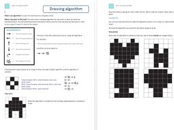 Computing Computer Science Worksheets Hour Of Code Binary Algorithm Image Representation