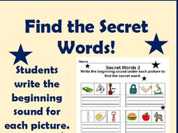 Beginning Sounds Activity: Find the Secret CVC Words