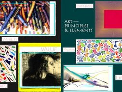 Art Elements + Art Principles ~ Presentation + FCs + Test ~ 132 Slides