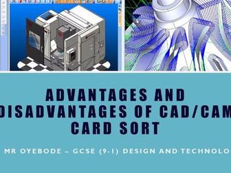 Advantages and Disadvantages of CAD/CAM Card Sort