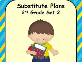 Emergency Substitute Lesson Plans Set 2 Grade 2