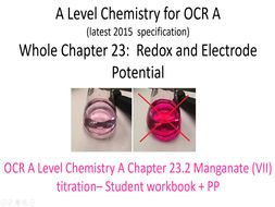 A Level Chemistry for OCR A     Chapter 23.2 Manganate (VII) titration.