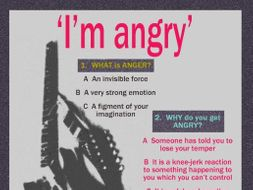 'I'm angry' QUIZ POSTER (US)