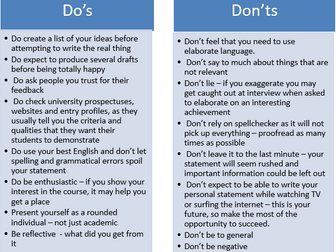 A guide to the perfect personal statement