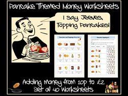 Pancake Day Maths' Money
