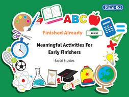 FINISHED ALREADY: SOCIAL STUDIES - LOWER UNIT (Y1/P2, Y2/P3)