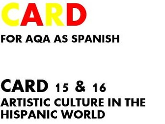 SPEAKING CARDS 15 & 16 for AQA AS SPANISH (new specification)