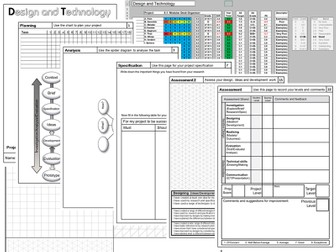 KS2/3 design booklet template