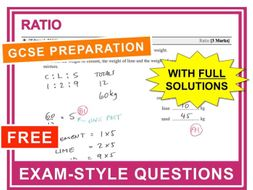 GCSE 9-1 Exam Question Practice (Ratio)