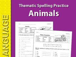 Thematic Spelling Practice: Animals