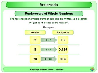 Reciprocals KS4