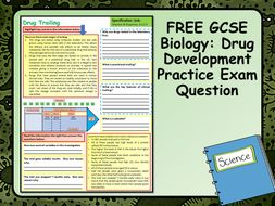 FREE GCSE Biology (Science) Drug Development Practice Exam Question