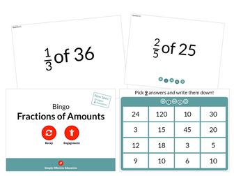 Fractions of Amounts (Bingo)