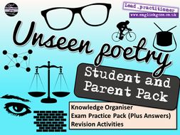Unseen Poetry English Home Learning