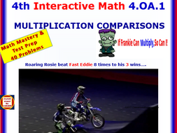 4.OA.1 Math Interactive Test Prep – Multiply & Compare  for 4th Grade