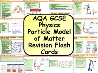 AQA KS4 GCSE Physics (Science) Particle Model of Matter Revision Flashcards
