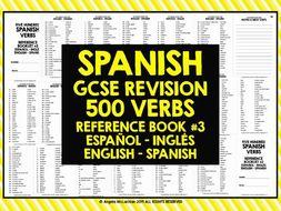 GCSE SPANISH: SPANISH 500 VERBS REFERENCE BOOK #3