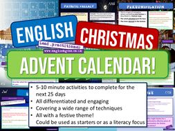 English Christmas Advent Calendar