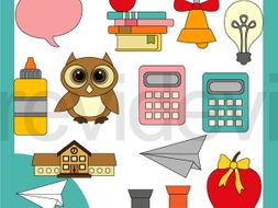 Fun Education Clip art - Back to school clipart resource