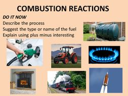 Combustion reactions starter