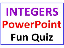 integers powerpoint fun quiz by dfilipek teaching resources tes
