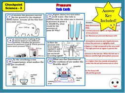 Pressure Task Cards- Checkpoint Science 3