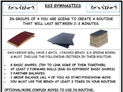 KS3/2 Gymnastic Routine Resource Cards