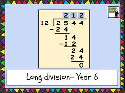 Maths long division- Year 6