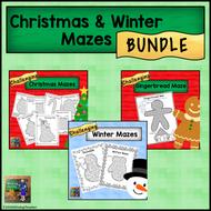 Christmas & Winter Mazes *BUNDLE