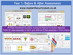 Year 1 – Before & After Maths Assessments