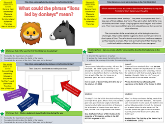 WW1: Were Lions really led by Donkeys? & the Battle of the Somme (Lesson 9)