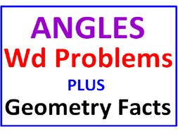 Angles Word Problems PLUS Geometry Facts True or False