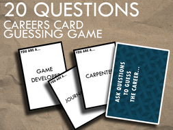 20 Questions - Printable Career Card Guessing Game